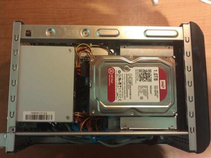 Flash NAS adattároló WD Red merevlemezekkel